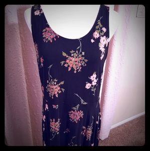NWOT EXPRESS black floral dress.  Size XL.